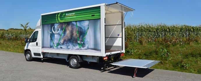 Neu in der Europcar LKW-Flotte: Citroën Jumper 35 L4 HDi 130 Copyright: Heinz Schutz GmbH Fahrzeugbau