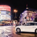DriveNow BMW1er am Londoner PicadillyCircus