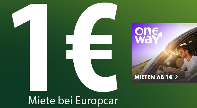 europcar startet oneway mieten f r 1 mietwagen. Black Bedroom Furniture Sets. Home Design Ideas