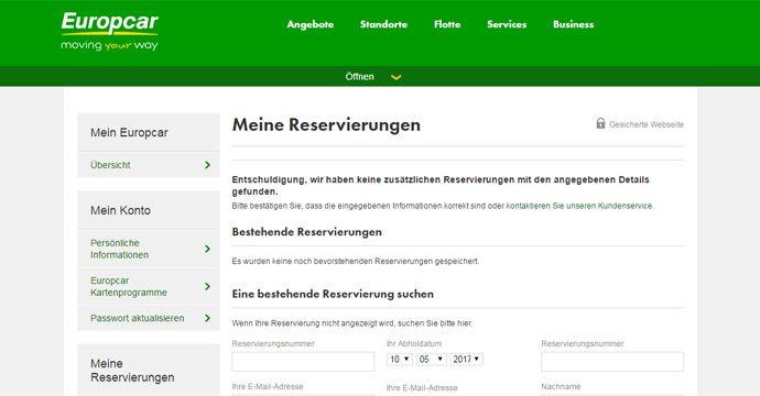 Datenpanne bei Europcar legt Reservierungen anderer Kunden offen - Ausmaß unbekannt