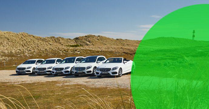 Die Strandflotte von Europcar sorgt auch 2017 für prestigeträchtige Mieten auf der Urlauberinsel Sylt